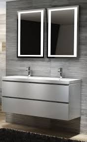 white 2 drawer modern bathroom vanity unit with basin sink wall