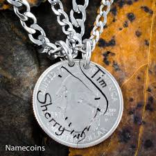 necklaces with names engraved howling wolf couples necklaces with custom engraved names namecoins