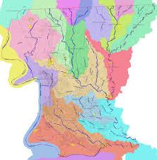 Louisiana Rivers Map Watersheds Brec Org