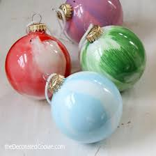 easy paint swirl ornaments are a kid friendly craft