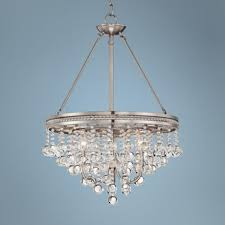 Brushed Nickel Chandeliers Regina Brushed Nickel 19
