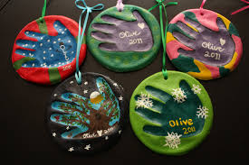 olive juice salt dough handprint ornaments