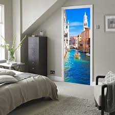 compare prices on urban wall murals online shopping buy low price new 2017 urban river 3d window wall stickers landscape venice of italy removable mural sticker wall