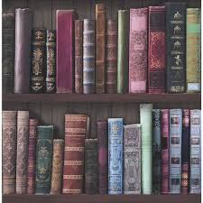 Amazing Bookshelves by Fresco Wallpaper Bookcases Multicoloured Wallpaper Wallpaper