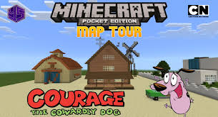 minecraft pe map the bagge farmhouse courage the cowardly dog