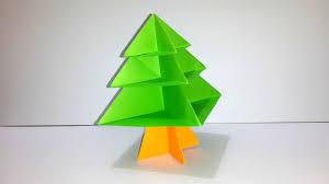 origami pine tree how to make origami christmas tree youtube