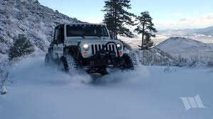 jeep snow tracks first tracks part 2 moby in the snowy mountains with his new