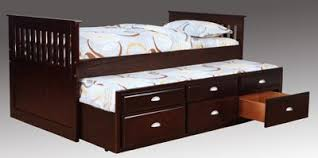 bernards twin captain bed with trundle and underbed storage