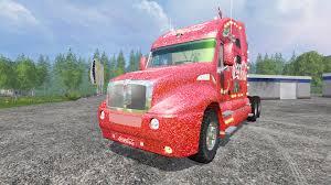 kenworth t2000 kenworth t2000 coca cola christmas v1 1 for farming simulator 2015