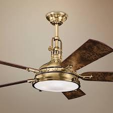 kichler ceiling fans with lights 56 kichler hatteras bay burnished antique brass ceiling fan