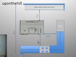 space for kitchen island minimum working space around kitchen island designs
