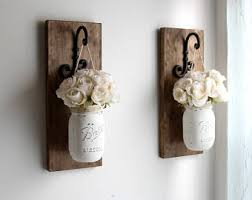 Wall Sconces For Flowers Rustic Wall Sconces Etsy