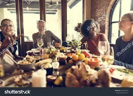 thanksgiving celebration tradition family dinner concept stock