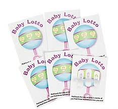 baby shower scratch baby shower 48 baby lotto scratch tickets pickle card