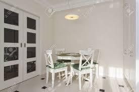 Table Ronde Cuisine Design by Table Ronde Blanche Dans La Cuisine Moderne Et Lumineux Banque D