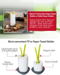 themed paper towel holder sprout decorative paper towel holder or toilet paper