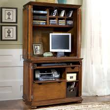 Used Computer Armoire home styles homestead compact office cabinet u0026 hutch computer