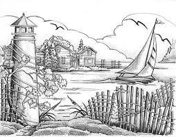 Wood Burning Patterns Free Download by Detailed Coloring Pages Lighthouses Free Online Woodburning