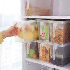 kitchen cabinet storage containers details about kitchen cupboard refrigerator food storage box container holder w handle d