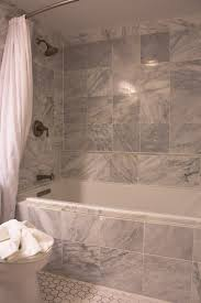 bathroom enticing gray marble subway tile wall paneling bath with