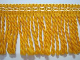 5 yards orange bullion fringe bullion trim twisted drapery