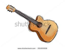 acoustic guitar sketch stock images royalty free images u0026 vectors