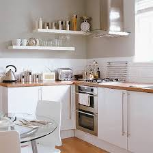 Imagine Our Green Walls Here I Love The Floating Shelves But - Small kitchen white cabinets