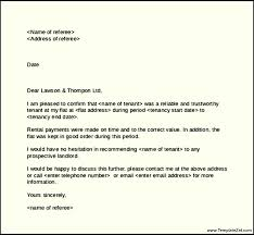 tenant recommendation letter character reference letter template