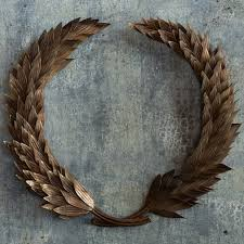 vintage bronze finished laurel wreath friendly