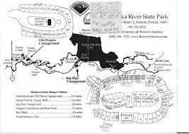 Florida State Parks Camping Map by Campground Map Myakka River State Park Sarasota Florida