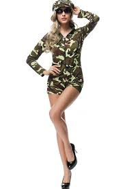 Army Costumes Halloween Army Green Camouflage Print Halloween Costume Shop Army