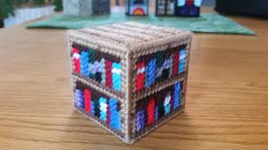 plastic canvas pattern for minecraft bookshelf yarngames
