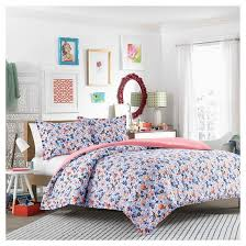 Teen Floral Bedding Floral Frenzy Comforter Set Blue Teen Vogue Target