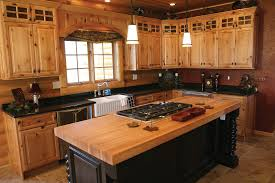 scenic rustic hickory kitchen cabinets for with granite