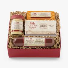 sausage and cheese gift baskets beef hickory sler gift box gift purchase our gourmet sausage