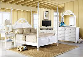 Beachy Bedroom Furniture by Shop For A Cindy Crawford Home Seaside White Poster 5 Pc Queen