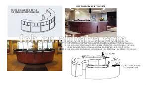 Velvet Reception Desk Round Reception Desk High End Wooden Veneer Custom Design And
