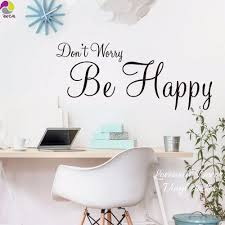 compare prices on baby nursery wall stickers quotes online don t worry be happy quote wall sticker bedroom baby nursery office inspiration motivation quote