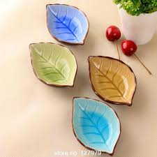 aliexpress buy on sale ceramic plates leaves creative