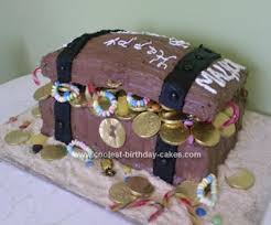 coolest homemade treasure chest cakes