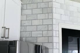 Carrara Marble Subway Tile Kitchen Backsplash Backsplash Tile Kitchen Backsplashes Wall Tile Mosaic Subway Tile