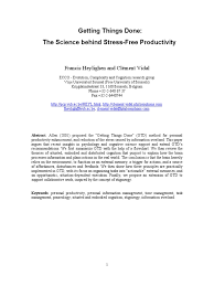 getting things done the science behind stress free productivity