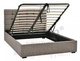 king size ottoman beds uk birlea isabella 6ft super king size grey upholstered fabric ottoman