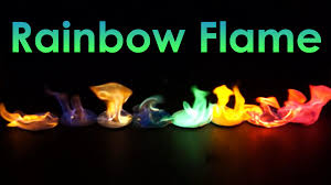 rainbow flame coloured fire experiment youtube