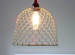 Farmhouse Pendant Lighting Fixtures by Rustic Pendant Lighting Chicken Wire Farmhouse Pendant
