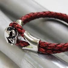 bracelet skull images Ladies leather skull bracelet by zamsoe jpg
