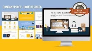 company profile presentation template free download stock