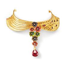 necklace choker design images Buy gold choker necklace best gold choker set designs online azva jpg