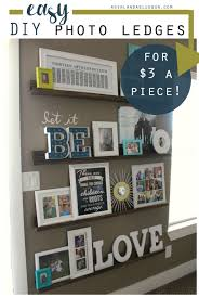 How To Decorate My House Decorating With Pictures Easy Diy Picture Ledges Family Pictures