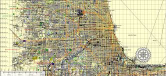 chicago map printable chicago and neighborhood suburbs printable vector map